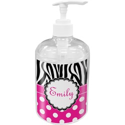 Zebra Print & Polka Dots Soap / Lotion Dispenser (Personalized)