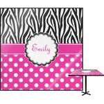 Zebra Print & Polka Dots Square Table Top (Personalized)