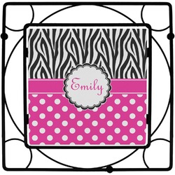 Zebra Print & Polka Dots Trivet (Personalized)