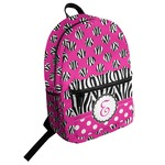 Zebra Print & Polka Dots Student Backpack (Personalized)