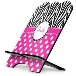Zebra Print & Polka Dots Stylized Tablet Stand (Personalized)