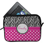 Zebra Print & Polka Dots Tablet Case / Sleeve (Personalized)