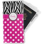 Zebra Print & Polka Dots Travel Document Holder