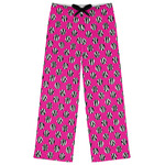 Zebra Print & Polka Dots Womens Pajama Pants (Personalized)