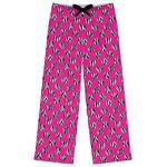 Zebra Print & Polka Dots Womens Pajama Pants (Personalized)