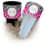 Zebra Print & Polka Dots Beach Spiker Drink Holder (Personalized)