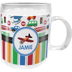 Transportation & Stripes Acrylic Kids Mug (Personalized)