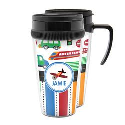 Transportation & Stripes Acrylic Travel Mugs (Personalized)