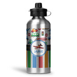 Transportation & Stripes Water Bottle - Aluminum - 20 oz (Personalized)