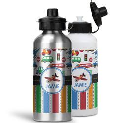 Transportation & Stripes Water Bottles- Aluminum (Personalized)