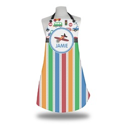Transportation & Stripes Apron (Personalized)
