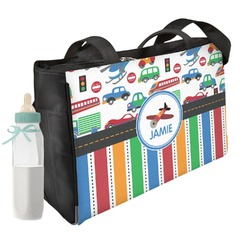 Transportation & Stripes Diaper Bag (Personalized)