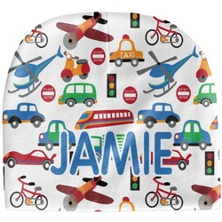 Transportation & Stripes Baby Hat (Beanie) (Personalized)