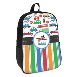 Transportation & Stripes Kids Backpack (Personalized)