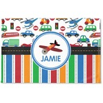 Transportation & Stripes Woven Mat (Personalized)
