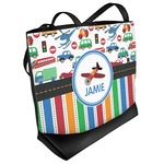 Transportation & Stripes Beach Tote Bag (Personalized)