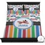 Transportation & Stripes Duvet Cover Set (Personalized)