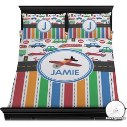 Transportation & Stripes Duvet Covers (Personalized)