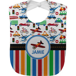 Transportation & Stripes Baby Bib (Personalized)