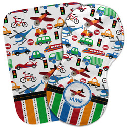 Transportation & Stripes Burp Cloth (Personalized)