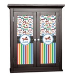 Transportation & Stripes Cabinet Decal - Custom Size (Personalized)