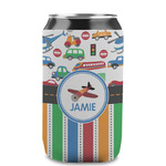 Transportation & Stripes Can Sleeve (12 oz) (Personalized)