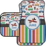 Transportation & Stripes Car Floor Mats (Personalized)