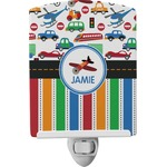 Transportation & Stripes Ceramic Night Light (Personalized)