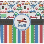 Transportation & Stripes Ceramic Tile Hot Pad (Personalized)