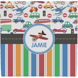 Transportation & Stripes Ceramic Tile Hot Pad (Personalized)