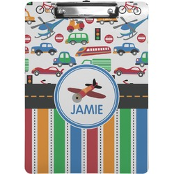 Transportation & Stripes Clipboard (Personalized)