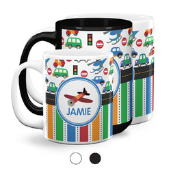 Transportation & Stripes Coffee Mugs (Personalized)