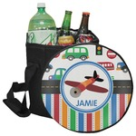 Transportation & Stripes Collapsible Cooler & Seat (Personalized)