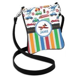 Transportation & Stripes Cross Body Bag - 2 Sizes (Personalized)