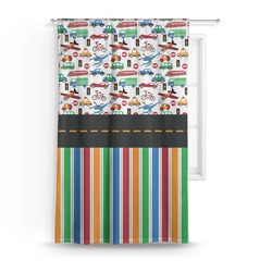 Transportation & Stripes Curtain (Personalized)