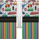 Transportation & Stripes Curtains (2 Panels Per Set) (Personalized)