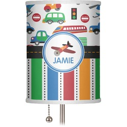 "Transportation & Stripes 7"" Drum Lamp Shade (Personalized)"
