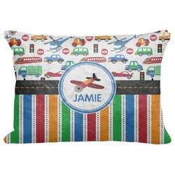 "Transportation & Stripes Decorative Baby Pillowcase - 16""x12"" (Personalized)"