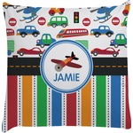 Transportation & Stripes Decorative Pillow Case (Personalized)