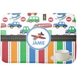 Transportation & Stripes Dish Drying Mat (Personalized)