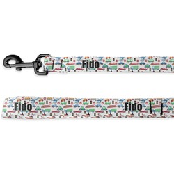 Transportation & Stripes Deluxe Dog Leash (Personalized)
