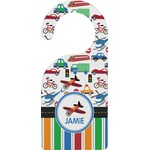 Transportation & Stripes Door Hanger (Personalized)