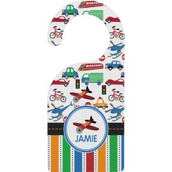 Transportation & Stripes Door Hanger (Personalized)