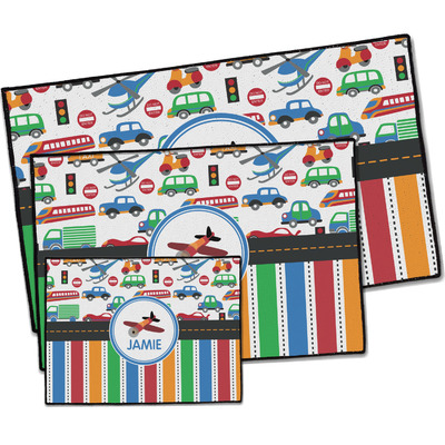 Transportation & Stripes Door Mat (Personalized)