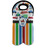 Transportation & Stripes Wine Tote Bag (2 Bottles) (Personalized)