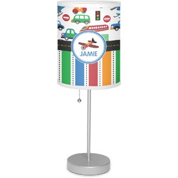 "Transportation & Stripes 7"" Drum Lamp with Shade (Personalized)"