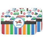 Transportation & Stripes Dish Drying Mat (Personalized)
