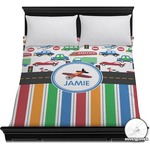 Transportation & Stripes Duvet Cover (Personalized)