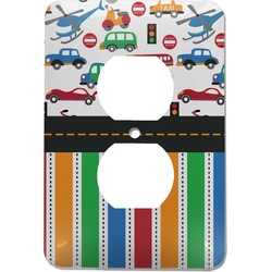 Transportation & Stripes Electric Outlet Plate (Personalized)