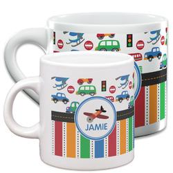 Transportation & Stripes Espresso Cups (Personalized)